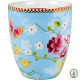 Caneca S/ Alça Chinese Azul - Floral - Pip Studio - Decorafast