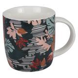 Caneca tecidos em porcelana floral 340ml - Dynasty