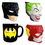 Canecas 3d Super Herois Batman Coringa Flash Logo Batman - Urban