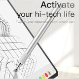 Caneta Touch para Iphone Ipad Apple Samsung HouseHold 2 em 1 Prata Baseus