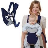 Canguru Carrega Bebê Ergonômico Passeio Importway 3 em 1 Posições Baby Até 15 Kg Azul Marinho