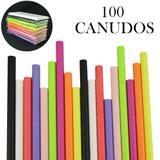 Canudos de Papel Biodegradável Coloridos 100 Unidades CBRN10820 - Commerce brasil