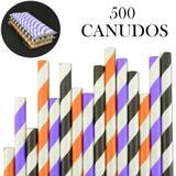 Canudos de Papel Biodegradável Listrados 500 Unidades CBRN10882 - Commerce brasil