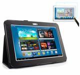 """Capa Agenda Magnética Para Tablet  Samsung Galaxy Note 10.1"""" GT-N8000 / N8010 / N8020 + Película de Vidro - Lka"""
