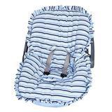 Capa Bebê Conforto Listrada Azul - I9 baby