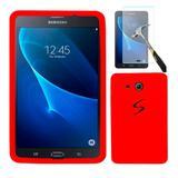 "Capa Borracha Silicone Para Tablet Samsung Galaxy Tab3 7"" T110 /  T111 / T113 / T116 + Película de Vidro - Lka"