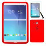 "Capa Borracha Silicone Tablet Samsung Galaxy Tab E 9.6"" SM-T560 / T561 / P560 / P561 + Película de Vidro - Lka"