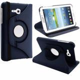 Capa Case Giratória Tablet Samsung Galaxy Tab3 T110 T111 T113 T116 Azul - Unica