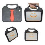 "Capa Case Protetor Infantil Anti-Choque/Impacto ""gravatinha"" iPad Mini 2/3/4 (Preto) - Skin t18"