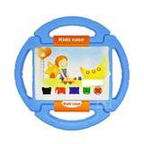 "Capa Case Protetor Infantil Anti-Choque ""Volante"" Galaxy Tab E T113/T115/T116 7"" BD NET (Azul) - Skin t18"