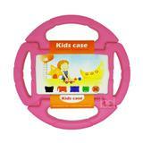 "Capa Case Protetor Infantil Anti-Choque ""Volante"" Galaxy Tab E T113/T115/T116 7"" BD NET (Rosa) - Skin t18"
