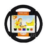 "Capa Case Protetor Infantil Anti-Choque ""Volante"" para iPad 2/3/4 - BD NET (Preto) - Skin t18"