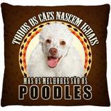 Capa de Almofada Estampa Digital Pets - Poodles A385 - Casa scarpa