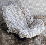 Capa de Bebê Conforto Adapt - Chevron Amarelo - Laura baby