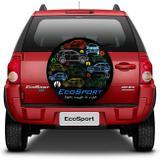 Capa de Estepe Ecosport Air Cross Crossfox Spin 2003 a 2017 Eco Color com Cadeado Aros 15 e 16 - Splody
