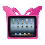 Capa de iPad Infantil Anti-Impacto Borboleta Rosa Mybag - iPad Mini 1, 2 e 3