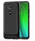 Capa em gel fibra de carbono para Motorola Moto G7 Plus- Preta - H'maston