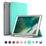 Capa Ipad 9.7 Wb Antichoque Verde Com Compart. P/ Apple Pencil