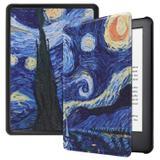 Capa Kindle 10ª geração com iluminação embutida  Auto Hibernação  Fecho Magnético  Van Gogh - Fullmosa
