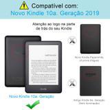 Capa Kindle 10ª Geração WB - Auto Hibernação Sensor Magnético Couro Premium Silicone Flexível Preta