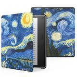 Capa Kindle Oasis 10ª e 9ª Geração WB Auto Liga/Desliga Ultra Leve Sensor Magnético Couro Van Gogh