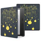 Capa Kindle Oasis 10ª e 9ª WB Auto Liga/Desliga Ultra Leve Sensor Magnético Couro Luzes