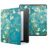 Capa Kindle Oasis Wb Auto Liga/Desliga - Couro Premium Flores