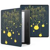 Capa Kindle Oasis Wb Auto Liga/Desliga - Couro Premium Luzes