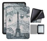 Capa Kindle Paperwhite 10ª geração à prova d'água - Hibernação - Fech magnético - Silicone Paris - Fullmosa