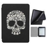 Capa Novo Kindle 10ª geração com iluminação embutida - Auto hibernação - Fechamento magnético - Silicone - Skull - Fullmosa