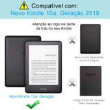 Capa Novo Kindle 10ª Geração Wb - Auto Hibernação Fecho Magnético Origami Azul Marinho