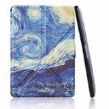 Capa Novo Kindle Paperwhite a prova D'água Wb - Origami Auto Hibernação Fecho Magnético Van Gogh