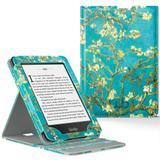 Capa Novo Kindle Paperwhite a prova D'água WB Premium Vertical Auto Hibernação - Flores
