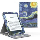 Capa Novo Kindle Paperwhite a prova D'água WB Premium Vertical Auto Hibernação - Van Gogh