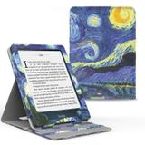 Capa Novo Kindle Paperwhite a Prova D'água WB - Premium Vertical Auto Hibernação - Van Gogh