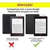 Capa Novo Kindle Paperwhite a Prova D'água Wb - Ultra Leve Auto Hibernação Fecho Magnético Onda