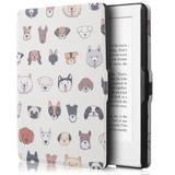 Capa Novo Kindle Paperwhite a prova Dágua Wb - Ultra Leve Auto Hibernação Fecho Magnético Dogs