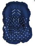 Capa Para Bebê Conforto Coroa Azul 100 Algodão - Bruna baby enxovais