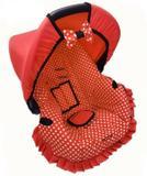 Capa para Bebê conforto Multimarcas de 0 a 13 KG Minnie Vermelha - Alan pierre baby