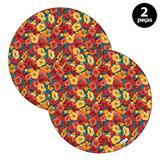 Capa para Sousplat Mdecore Floral Colorido