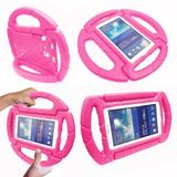 Capa para Tablet Samsung Galaxy Tab 7.0 Infantil Anti Impacto Volante + Película de Vidro - Kids case