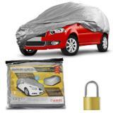 Capa Protetora para Cobrir Carro Impermeável Forrada Proteção UV Tamanho P com Cadeado + Cabo de Aço - Carrhel