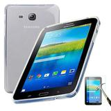 "Capa Silicone TPU Transparente Para Tablet Samsung Galaxy Tab3 7"" SM-T110 / T111 / T113 / T116 + Película de Vidro - Lka"