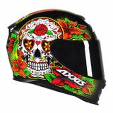 Capacete Axxis Eagle Skull Gloss Black/Yellow