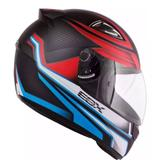 Capacete ebf e-zero-x frost tricolore fosco preto / azul tam 60 - Ebf capacetes