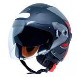 Capacete ebf freedom circle brilho preto / vermelho tam 58 - Ebf capacetes