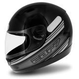 Capacete Fechado EBF 7 Carbon Preto e Prata - Ebf capacetes