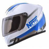 Capacete Mini Pro Tork Nos Speed Line ( Enfeite E Decoração ) Branco-Azul Único