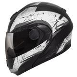 Capacete Moto Peels Articulado Escamoteável Urban Wolf Preto Fosco Cinza Com Óculos Solar