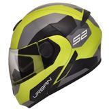 Capacete Moto Peels Escamoteável Urban Sync 2 Verde Citrus Cinza Brilhante